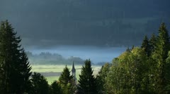 Morning scene in vals, swizerland Stock Footage
