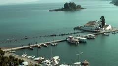Mouse island in Corfu Stock Footage