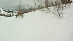 Snowboarding race Stock Footage