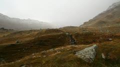 Lake on splugen pass, swizerland Stock Footage