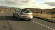 Stock Video Footage of Car Driving on Dartmoor HD