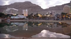 Dead sea hotels timelapse ntd 0112 Stock Footage