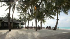 Maldives, Sun Island 09 Stock Footage
