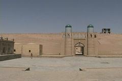 Uzbekistan Khiva gate and plaza Stock Footage