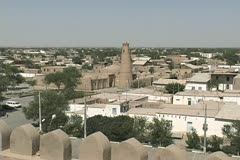 Uzbekistan Khiva outside the walls Stock Footage