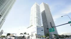 Luxury Condominiums on Biscayne Blvd in Miami Stock Footage