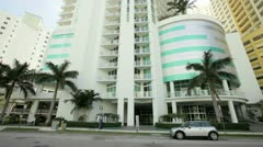 Buildings on Brickell Bay Drive Stock Footage