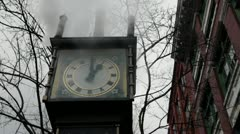 Gastown Steam Clock - stock footage