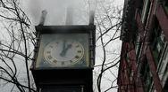 Gastown Steam Clock Stock Footage