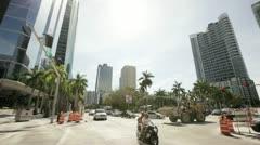 Popular Bank Building on Brickell Miami Stock Footage