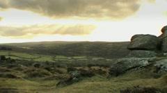 Dartmoor Sun Beam Timelapse HD - stock footage