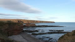 Seaton cliffs near Arbroath Angus Scotland Stock Footage