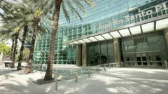 Espirito Santo Plaza Brickell Miami front pan video taken on 02/18/2012 Stock Footage