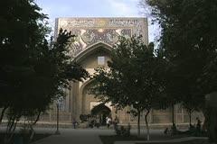 Uzbekistan Bukhara Nadir Divan-Beghi madrasah 2 Stock Footage