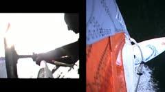 Windsurfmount split2 Stock Footage