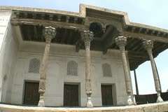 Uzbekistan Bukhara palace in the Ark Stock Footage