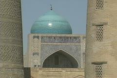 Uzbekistan Bukhara Po-i Kalyan complex zooms out Stock Footage