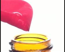 Stock Video Footage of Rose essence in bottle V2 - PAL