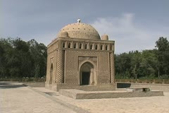 Uzbekistan Bukhara Samanid Mausoleum 9th century Stock Footage
