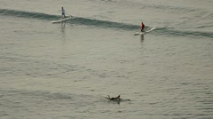 Learning to surf part 2 Stock Footage