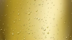 Champagne bubbles Stock Footage