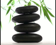 Zen stones in Spa setting V4 - PAL Stock Footage