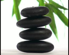 Zen stones in Spa setting V3 - PAL Stock Footage