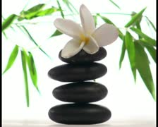 Zen stones in Spa setting V1 - PAL Stock Footage
