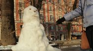 Making a snowman Stock Footage