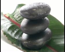 Zen rocks and leaf V3 - PAL - stock footage