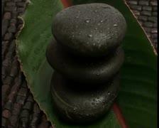 Zen rocks and leaf V2 - PAL Stock Footage
