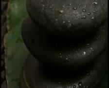 Zen rocks and leaf V1 - PAL - stock footage