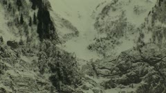 Avalanche bad weather - stock footage