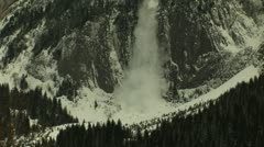 Avalanche Cliff Stock Footage