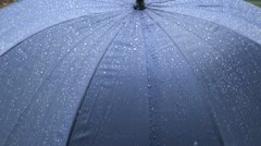 Umbrella and Rain Stock Footage