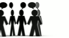 connected people b&w - stock footage