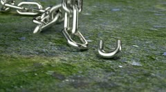 Chain dropping Stock Footage