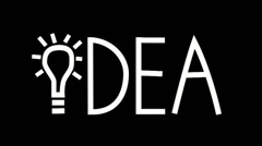 HD: Idea with light bulb animation (NTSC) - stock footage