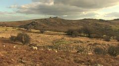 Dartmoor Tor Long Shot HD Stock Footage