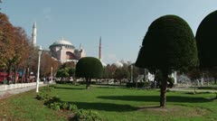Agia Sofia in Istanbul Stock Footage