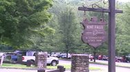 A sign for Kent Falls in Connecticut State Park Stock Footage