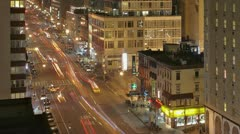 Stock Video Footage of Timelapse Traffic at night on 8th Ave