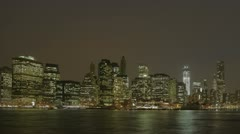 Timelapse Manhatten Skyline Brookly Bridge Stock Footage