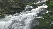 Close up of waterfalls over the rocks (4 of 4) Stock Footage
