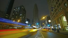 Timelapse Crossing at Flatiron Building Stock Footage