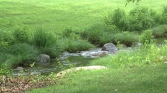 A small babbling brook Stock Footage