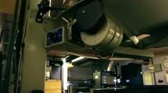 Cinema Projection Room Stock Footage