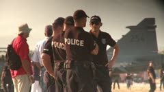 police officers - stock footage
