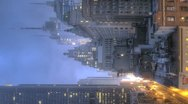 Timelapse Traffic at sunrise on 8th Ave Stock Footage
