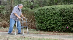 Man With Walker - stock footage